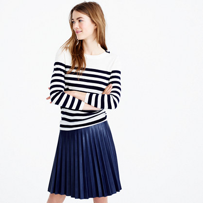 Tippi striped sweater with shoulder buttons