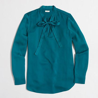 Petite secretary blouse