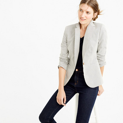 Campbell blazer in skinny stripe