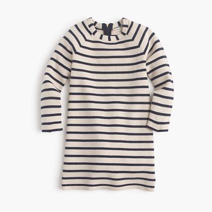 Girls' striped sweater-dress