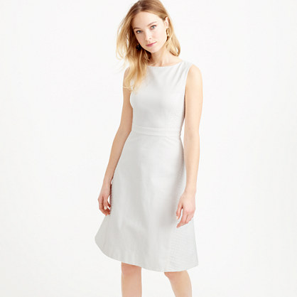 Diamond jacquard with piqué A-line dress