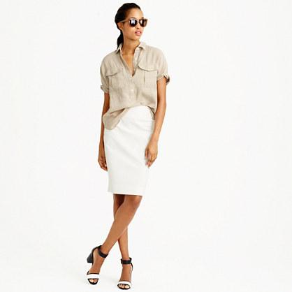 Petite No. 2 pencil skirt in bi-stretch cotton