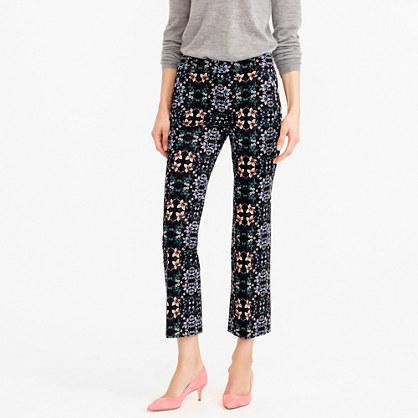 Teddie pant in mirrored floral