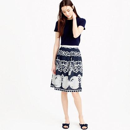 Petite midi skirt in ornate lace
