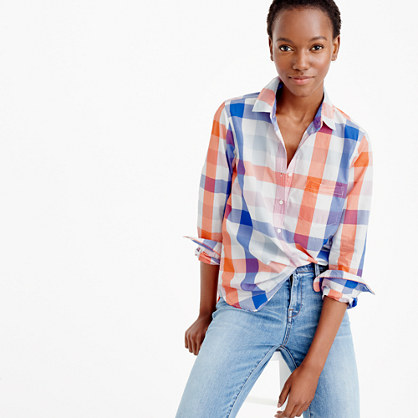 Popover shirt in oversized plaid