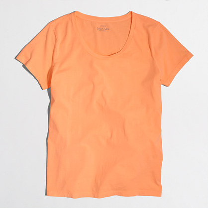 Neon sunwashed garment-dyed crewneck T-shirt