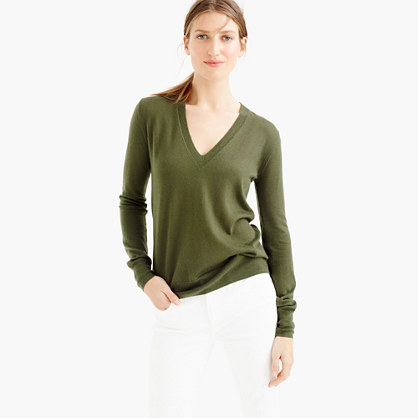Collection featherweight cashmere classic V-neck sweater