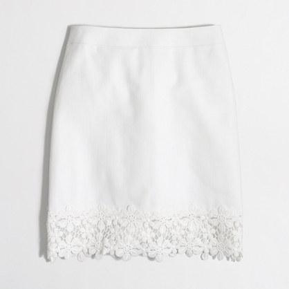 Factory lace-trim mini skirt
