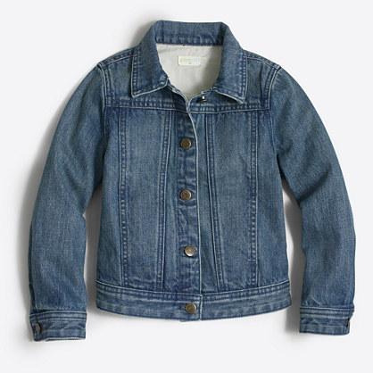 Factory girls' denim jacket