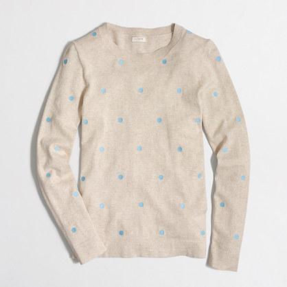 Factory polka-dot Teddie sweater