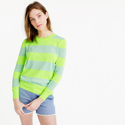 Summerweight sweater in neon stripe