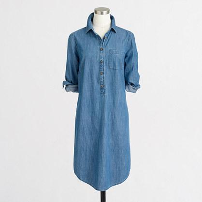 Factory chambray shirtdress