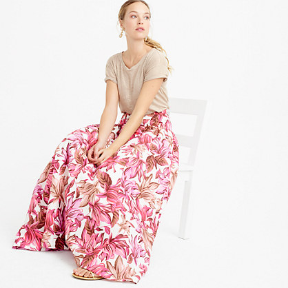 Collection crinoline skirt in romantic floral