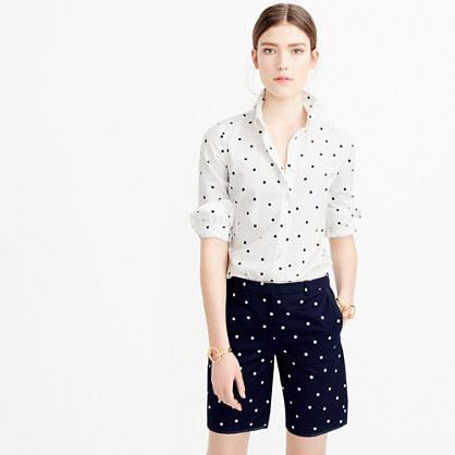 Bermuda short in polka dot