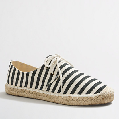 Factory striped lace-up espadrilles