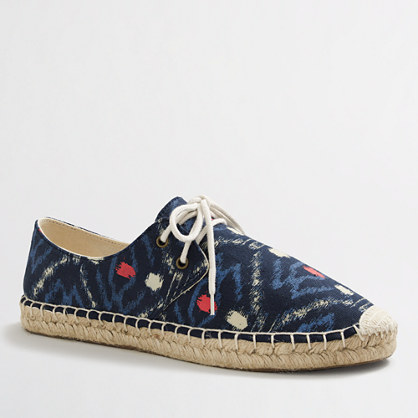 Factory lace-up espadrilles in ikat
