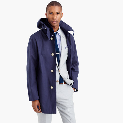 "Traditional Weatherwearâ""¢ hooded Derby raincoat"