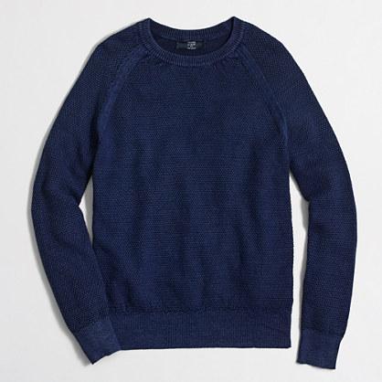 Factory seedstitch cotton crewneck sweater