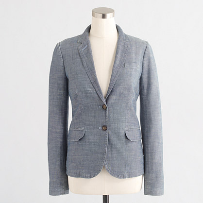 Chambray blazer