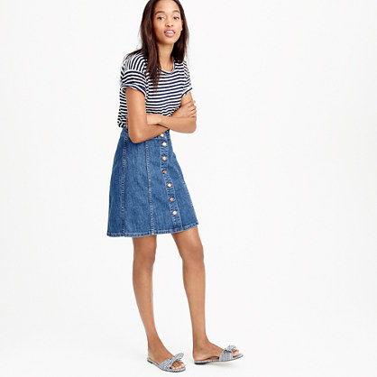 Denim skirt button front – Modern skirts blog for you
