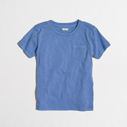Factory kids' sunwashed garment-dyed pocket T-shirt