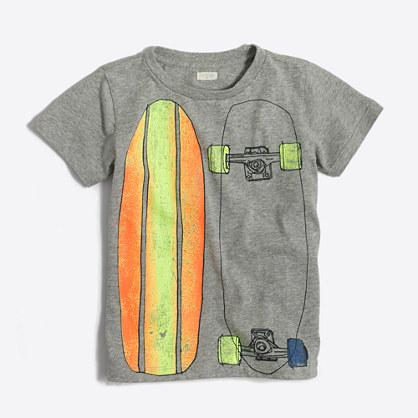 Factory boys' skateboard storybook T-shirt