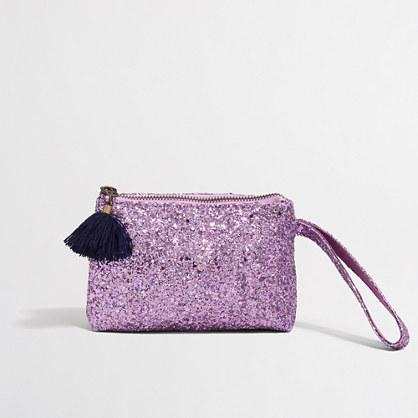Factory girls' glitter tassel wristlet