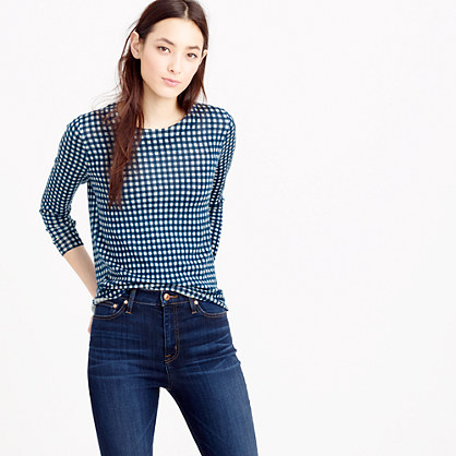 Petite Tippi sweater in gingham