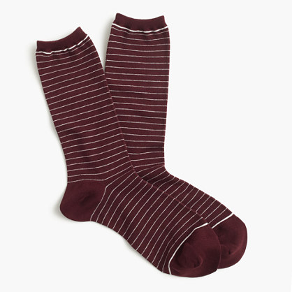 Striped heather trouser socks