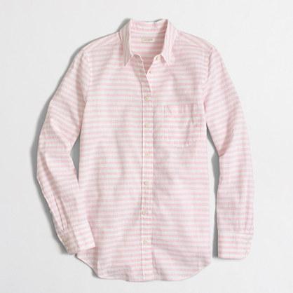 Factory striped linen-cotton shirt