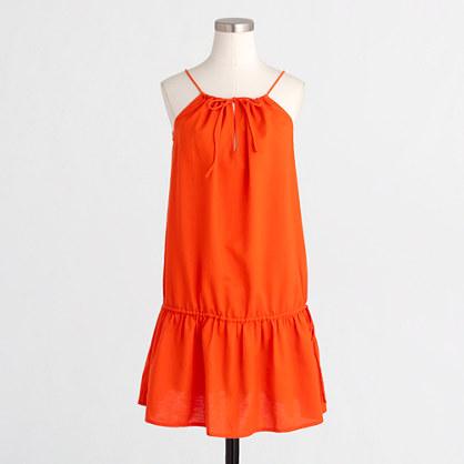 Factory drop-waist drawstring dress