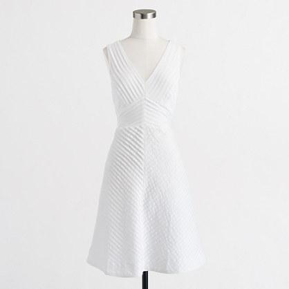 Factory petite chevron pleated dress