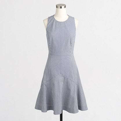 Factory flared seersucker dress