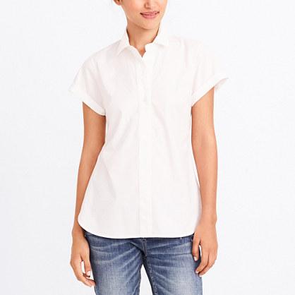 Short-sleeve popover shirt