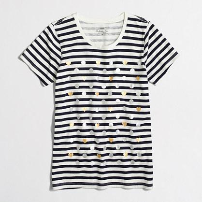 Factory heart dot striped collector T-shirt