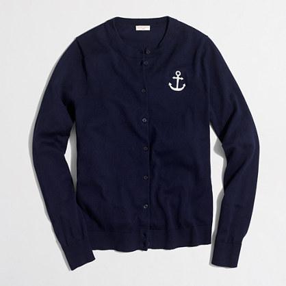Factory anchor Caryn cardigan sweater