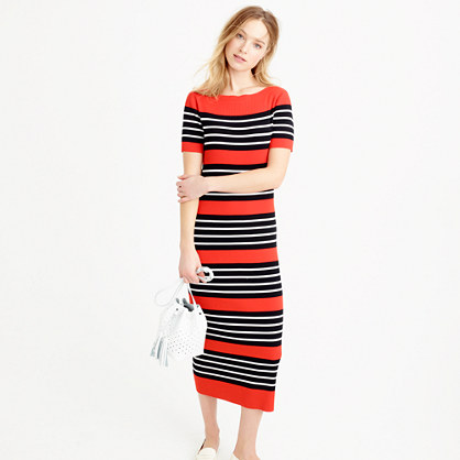 Collection striped sweater-dress