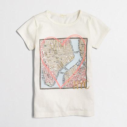 Factory girls' NYC map keepsake T-shirt