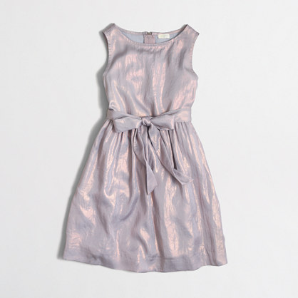 Factory girls' shimmer dress
