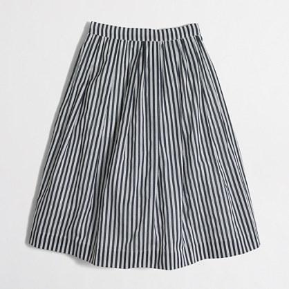 Factory striped flounce skirt