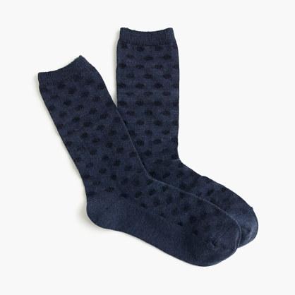 Striped dot trouser socks