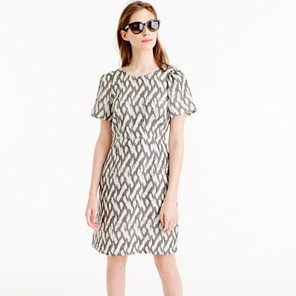 Flutter-sleeve dress in ikat