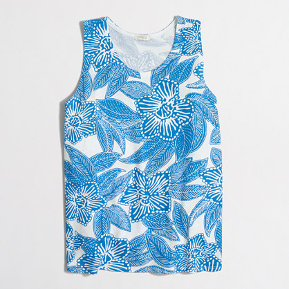Factory floral printed tank top
