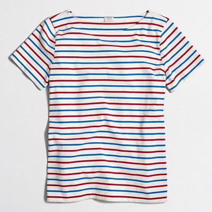 Factory ladder-striped T-shirt
