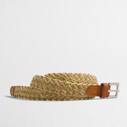 Factory woven cork belt
