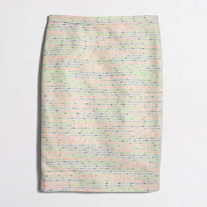 Factory confetti tweed pencil skirt