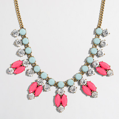 Factory neon oval necklace