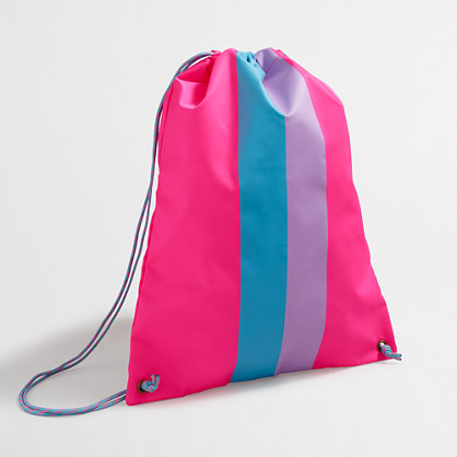 Factory girls' drawstring backpack