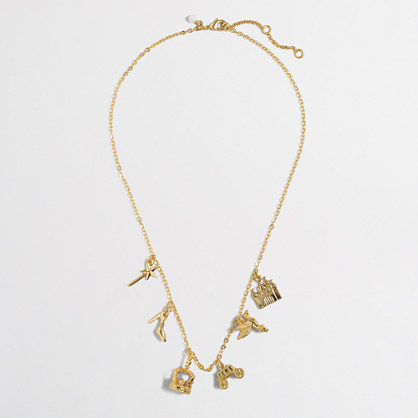 Factory girls' princess charm necklace