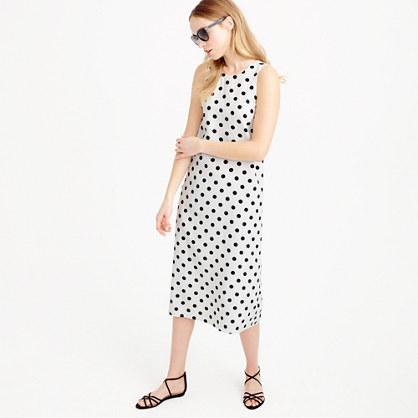 Midi dress in polka dot